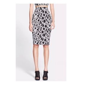 🆕Elizabeth and James Aisling Foiled Pencil Skirt